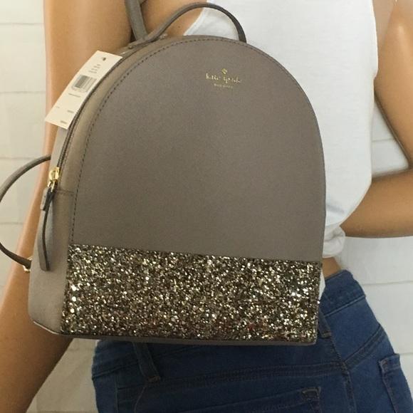 kate spade Handbags - NWT Kate Spade Glitter backpack 80981c3b9c276